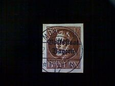 Stamp, Germany, Bavaria, Scott#166, used(o), imperforated, 50pf, red brown