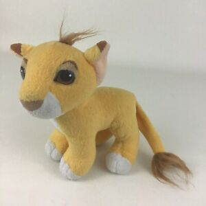 "The Lion King Simba Cub Plush Stuffed Animal Toy Disney Movie 8"" Toy Vintage 90s"
