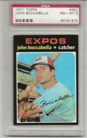 SET BREAK-1971 TOPPS # 452 JOHN BOCCABELLA, PSA 8 NM-MT, MONTREAL EXPOS, L@@K !