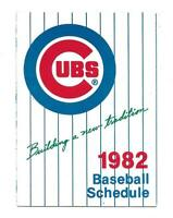 1982 Chicago Cubs Tri Fold Pocket Schedule Old Style Beer