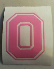 PINK Ohio State Buckeyes Block O 2 inch helmet decal sticker osu RTIC