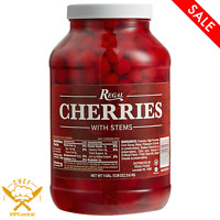 1 Gallon Plastic Jar Original Maraschino Cherries With Stems Dessert Bar Drink