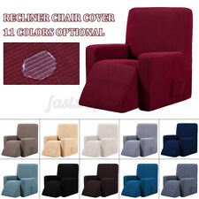 Waterproof Elastic Recliner Wing Chair Sofa Couch Soft Slipcover Cover  F