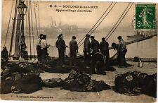 CPA  boulogne - sur - mer .- Appareillage des filets  (196487)