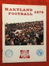 1979 NCAA UNIVERSITY OF MARYLAND FOOTBALL YEARBOOK