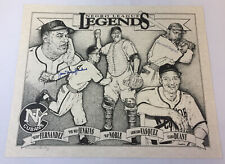 1996 NY CUBANS Negro League poster ~ SIGNED by PEE WEE JENKINS,ARMANDO VASQUEZ