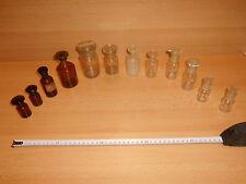 12 x Steilbrustflasche/ Apothekerflasche Klarglas/ Braunglas von 10- 100ml, gebr