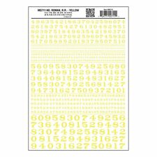 Numbers Dry Transfer Sheet, Roman RR Yellow Dt - Woodland Scenics MG711 F1