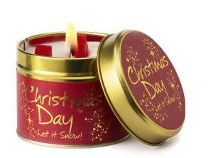 Lily Flame Christmas Day Scented Candle Tin FREE P&P