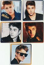 5 x Square Stickers ~ Justin Bieber Mlae Singer Star Teen Idol Party Favours ~