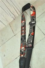 Levys Guitar Strap Skulls And Hearts, Fabric