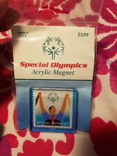 Usps Promo Stamp Magnet Special Olympics Usa 2003 vintage Rare sealed Arylic