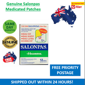 Salonpas Patch Hisamitsu Pain Relieving 1/2/4/6/8/16/20 Boxes 12 Patches