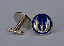 Star Wars Blue and Silver Jedi Order Emblem Quality Enamel Cufflinks