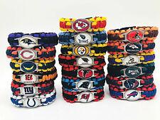 FOOTBALL NFL US TEAM UMBRELLA ROPE WRISTBAND  BRACELETS BRACELETS-PICK TEAM GIFT