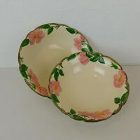 "Franciscan Desert Rose Lot of 2 Vegetable Serving Bowls 8"" & 9"" Made in USA FLAW"