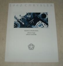 1990 CHRYSLER LeBARON COUPE TEC AUTO SALES DEALERSHIP ADVERTISING COLOR BROCHURE
