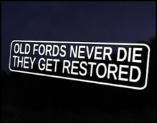 Old Fords Restored Car Decal Sticker JDM Vehicle Bike Bumper Graphic Funny