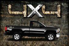2 4x4 Truck Obliteration Camouflage Duck Camo Truck Bed Decals Stickers-HETD