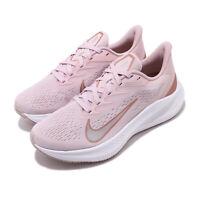 Nike Wmns Zoom Winflo 7 Barely Rose Bronze White Women Running Shoes CJ0302-601