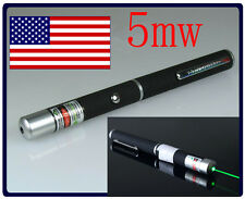 New Stylish High Power 5mw 532nm Green Laser Pointer Visible Beam Fast Usa Ships