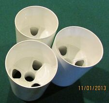 "PRACTICE GREEN PREMIUM GOLF CUPS - SET OF 3 - ALUMINUM - 4 1/4"" Depth"