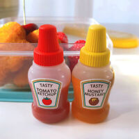 2 pcs 25 ML Mini Tomato Ketchup Bottle Portable Sauce Salad Container