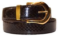 New Mens Brown Alligator Print Genuine Leather Classic 30mm Nice Fashion Belt