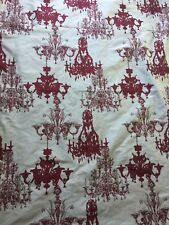 Chandelier Curtains, Drapery, Chandelier Print On The  Fabric