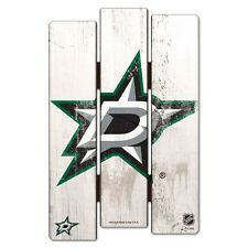 "DALLAS STARS FENCE WOOD SIGN 11""X17'' BRAND NEW FREE SHIPPING WINCRAFT"