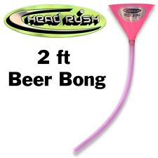Head Rush Beer Bong Pink 48oz Funnel 2' Tube Party
