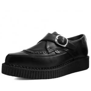 T. U. K.A9324 Homme Vegan Chaussures Noir Tukskin™ Moine Boucle Point Creeper