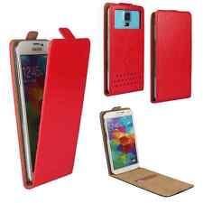 Archos 50d Oxygen - Handy Schutzhülle Tasche Hülle Flip Rot M