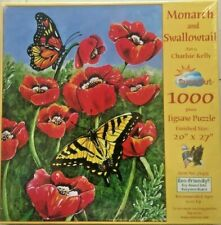 Monarch & Swallowtail 1000 pc Jigsaw Puzzle by SunsOut 20X27 New