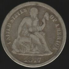 More details for 1877 cc u.s.a. seated liberty dime | world coins | pennies2pounds