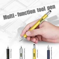 6 in 1 Multifunction Creative Ballpoint Pen Spirit Level Caliper Screwdriver