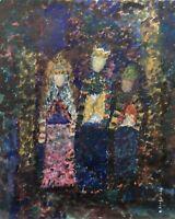 Norddeutsche Malerin Drei Heiligen Könige Bibel Vera Stoss Pointillismus