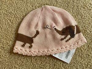NWT Original Gymboree Knit Weiner Dog Hat Cap Beanie 18-24m