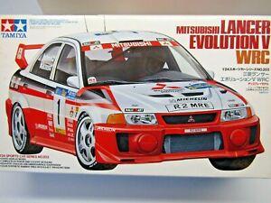 Tamiya 1:24 Scale Mitsubishi Lancer Evo V WRC Makinen Model Kit - New - # 24203
