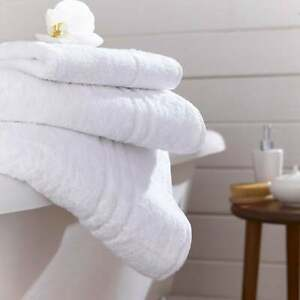 Charlotte Thomas Thick Turkish Cotton Towels in White 600GSM