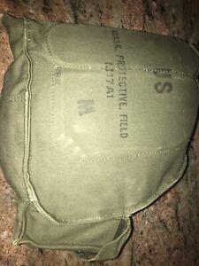 Vintage US Military M17A1 Protective Gas Mask with original bag | Vietnam War B1