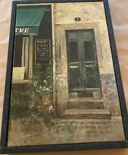 "Chiu Tak Hak Original Acrylic  on Canvas Green Door 1 """