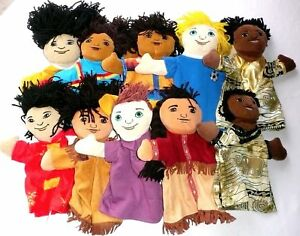 BRAND NEW WORLD PMC81 PUPPET COLLECTION Multi-Cultural 10 Piece Set BNW >NEW<