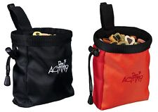 Trixie Dog Activity Treat Baggy Snack Bag With Belt Clip Red or Brown 10 X 14 Cm
