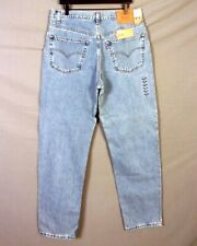 vtg 90s NOS Deadstock Levis 550 Relaxed Fit Denim Jeans Red Tab Lt wash 38 X 34