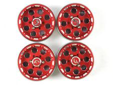 4PCS 25.4mm red GDS RACING 1.9 Alloy Wheels Rim for 1/10 rc crawler rc car