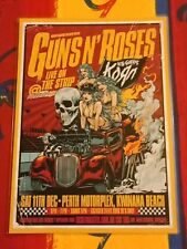 GUNS N ROSES- 2010 Australia Tour - PERTH - Laminated Promo Poster