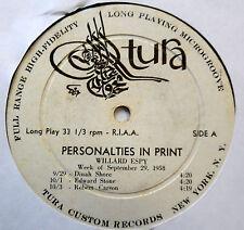 PERSONALITIES IN PRINT Willard Espy LP September 29, 1958 w