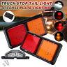 2x 12V 72 LED Feux Arrière freinage Clignotant éclairage plaque Camion Tracteur