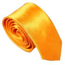 Cravate étroit Jaune Doré Homme Mariage Business cravate costume de fête